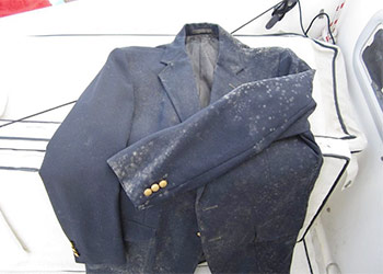Green mold growing on clothes